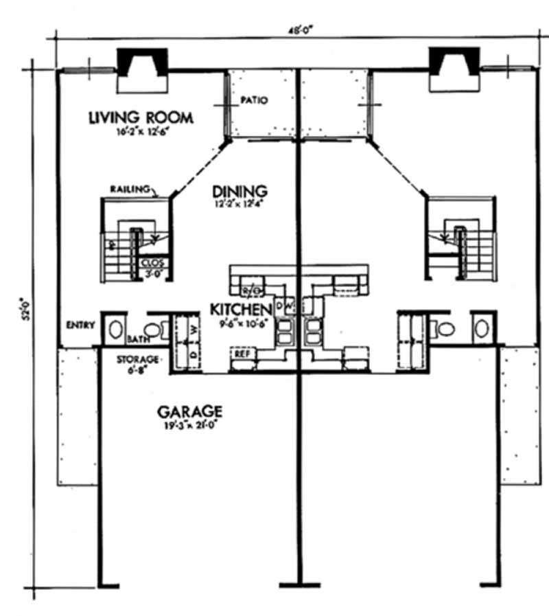 Multi unit house plans home design ls h 5922 a2 for Multi unit house plans