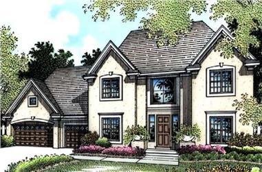 3-Bedroom, 2564 Sq Ft European Home Plan - 146-1371 - Main Exterior