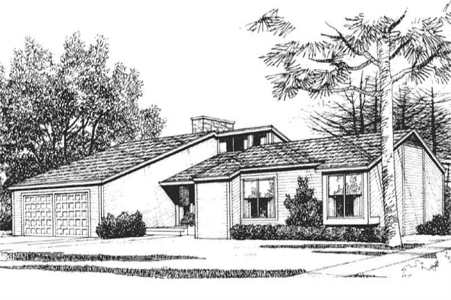 3-Bedroom, 1802 Sq Ft Contemporary Home Plan - 146-1372 - Main Exterior