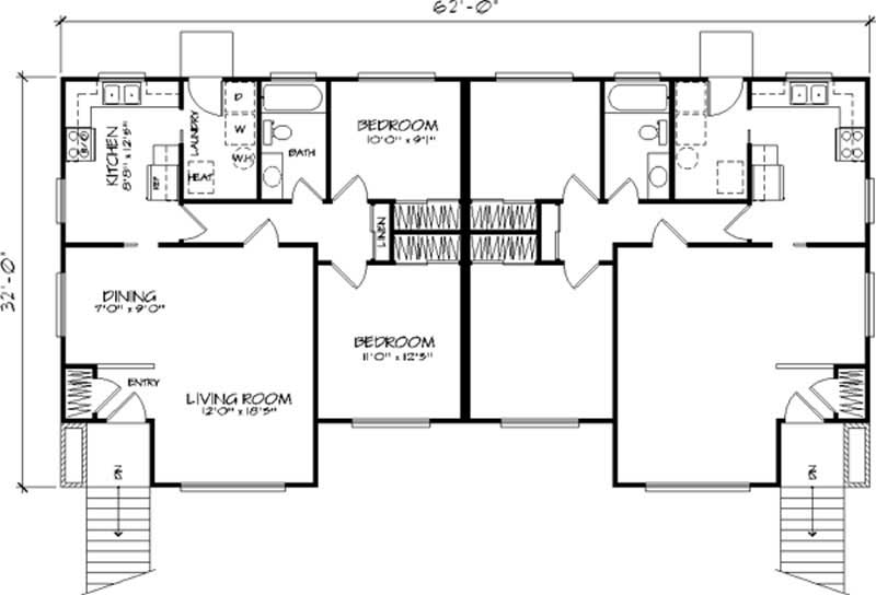 Multi unit homeplans home design ls h 539 2a2 for 539 plan
