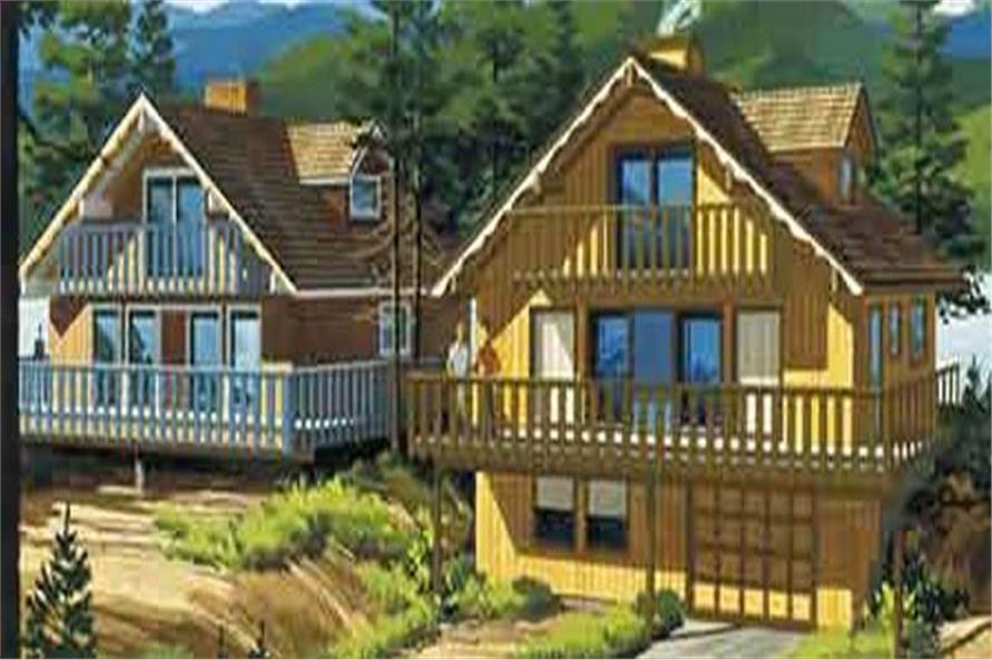 This is a colored rendering of Vacation Home Plans LS-H-720-11.
