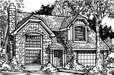 3-Bedroom, 2309 Sq Ft Cape Cod House Plan - 146-1381 - Front Exterior