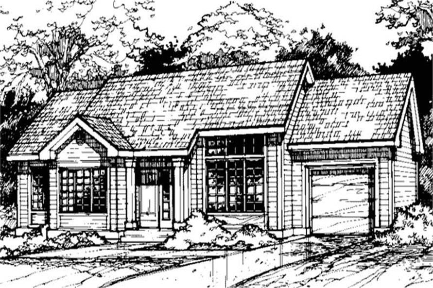 Country Home Plans LS-B-89054 Front Elevation image.