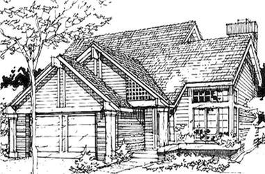3-Bedroom, 1461 Sq Ft Cape Cod Home Plan - 146-1389 - Main Exterior