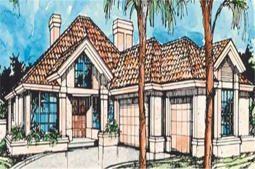 2-Bedroom, 2235 Sq Ft Florida Style Home Plan - 146-1394 - Main Exterior