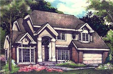 4-Bedroom, 2732 Sq Ft Country Home Plan - 146-1396 - Main Exterior
