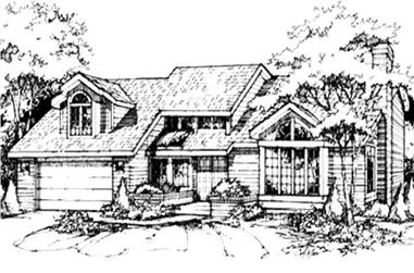 3-Bedroom, 2867 Sq Ft Country Home Plan - 146-1397 - Main Exterior