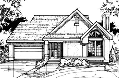 3-Bedroom, 1581 Sq Ft Country Home Plan - 146-1399 - Main Exterior