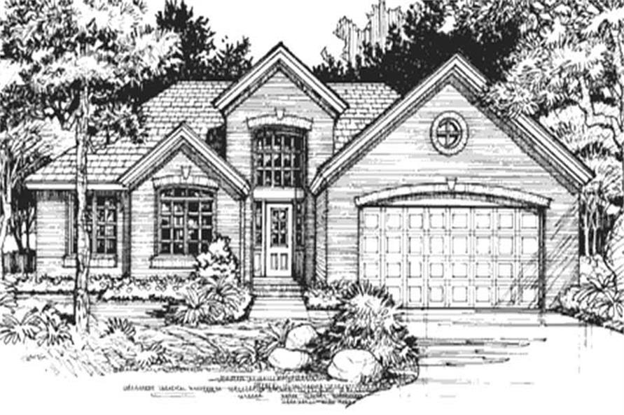 Country House Plans LS-B-91014 front elevation.