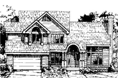 4-Bedroom, 2463 Sq Ft Country Home Plan - 146-1404 - Main Exterior