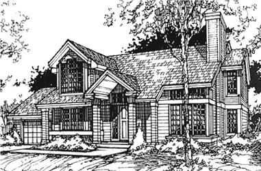 3-Bedroom, 2198 Sq Ft Country House Plan - 146-1405 - Front Exterior