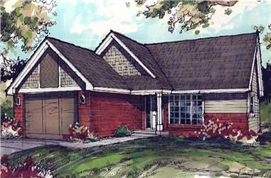 3-Bedroom, 1571 Sq Ft Country Home Plan - 146-1407 - Main Exterior
