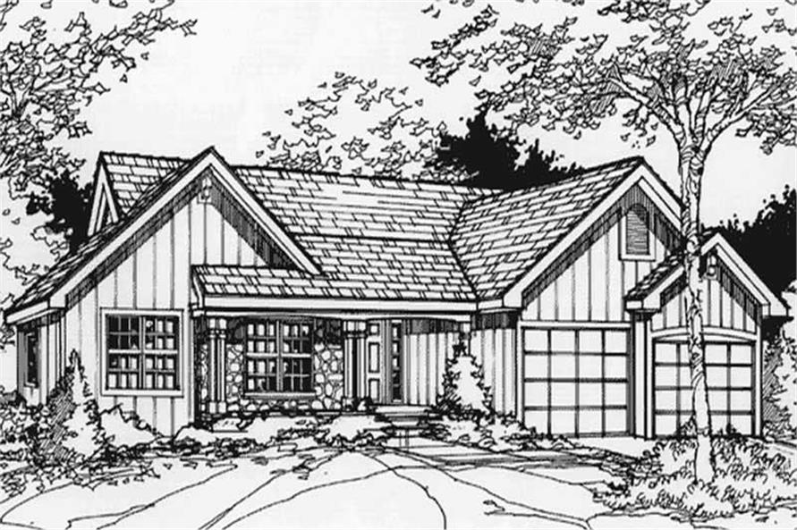 Front elevation of Ranch Home Plans.