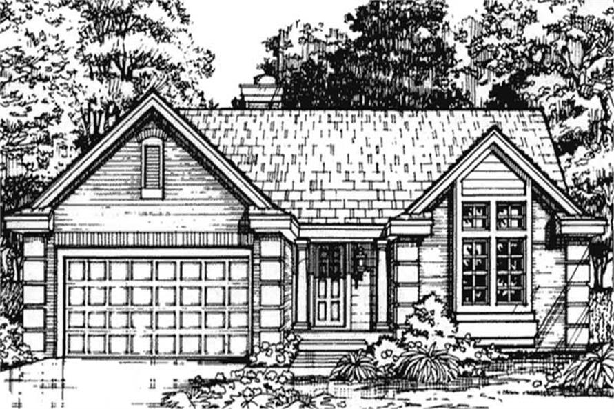 Country House Plans LS-B-90004 front elevation.