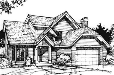 3-Bedroom, 1927 Sq Ft Country House Plan - 146-1412 - Front Exterior