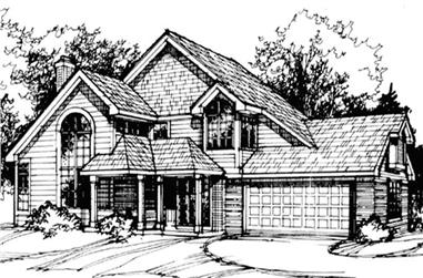 2-Bedroom, 2189 Sq Ft Country House Plan - 146-1414 - Front Exterior