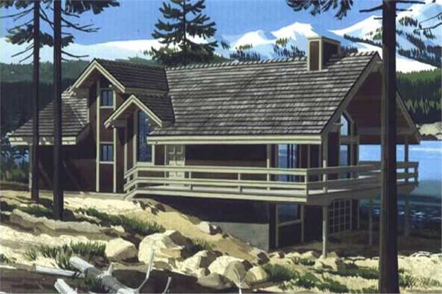 Color Rendering of house plan LS-H-894-2A