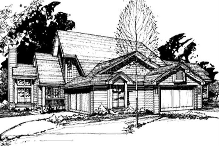 2-Bedroom, 2280 Sq Ft Country Home Plan - 146-1418 - Main Exterior