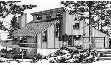 Front elevation to house plan LS-H-927-1A