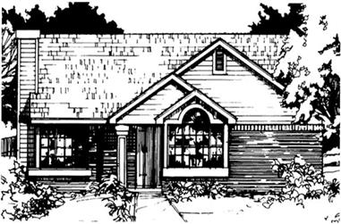 2-Bedroom, 1036 Sq Ft Country House Plan - 146-1421 - Front Exterior