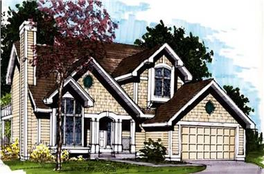 3-Bedroom, 3042 Sq Ft Country House Plan - 146-1422 - Front Exterior