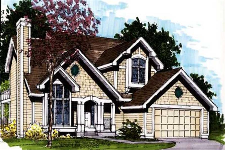This image shows the Specialty/Country Style of this set of house plans.