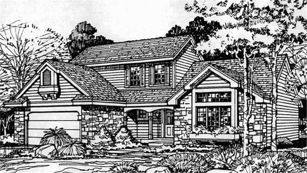 Front Elevation of Country Houseplans LS-B-89060.
