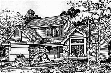 3-Bedroom, 2200 Sq Ft Cape Cod Home Plan - 146-1423 - Main Exterior