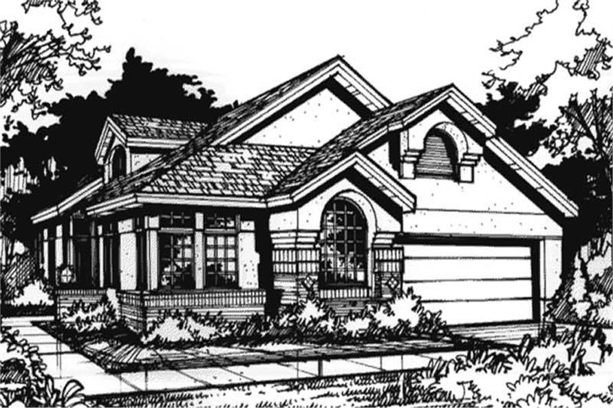 Country Homeplans LS-B-89045 Front Elevation image.