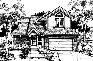 3-Bedroom, 2104 Sq Ft Country House Plan - 146-1425 - Front Exterior