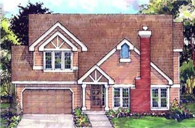 3-Bedroom, 1884 Sq Ft Country House Plan - 146-1428 - Front Exterior