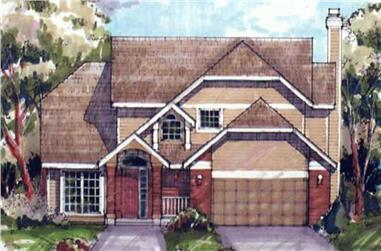 3-Bedroom, 1917 Sq Ft Country Home Plan - 146-1429 - Main Exterior