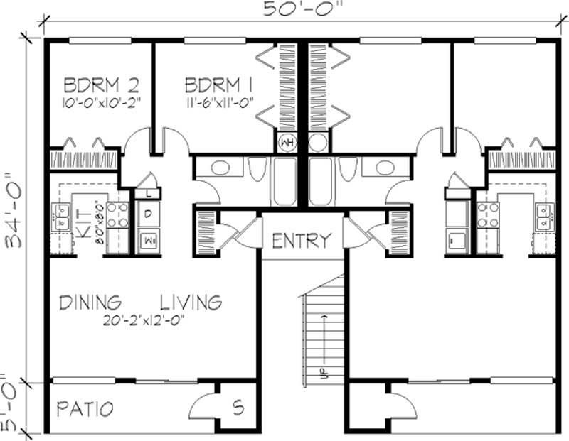 Multi unit house plan 146 1431 8 bedrm 3128 sq ft per for Multi unit house plans