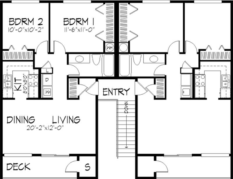 Multi unit house plan 146 1431 8 bedrm 3128 sq ft per 2 unit building plan