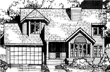 2-Bedroom, 1388 Sq Ft Country Home Plan - 146-1432 - Main Exterior