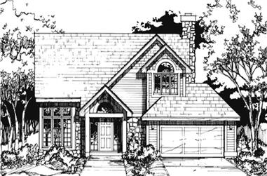 3-Bedroom, 1866 Sq Ft Country House Plan - 146-1433 - Front Exterior