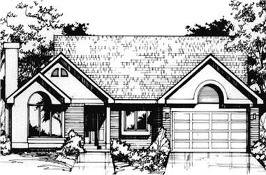 3-Bedroom, 1313 Sq Ft Country House Plan - 146-1434 - Front Exterior