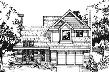 3-Bedroom, 1685 Sq Ft Country House Plan - 146-1439 - Front Exterior