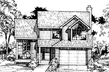 3-Bedroom, 2040 Sq Ft Country House Plan - 146-1441 - Front Exterior