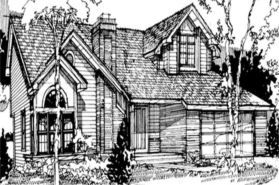 3-Bedroom, 2316 Sq Ft Country Home Plan - 146-1442 - Main Exterior