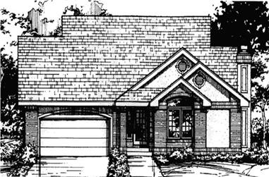 3-Bedroom, 1587 Sq Ft Country House Plan - 146-1444 - Front Exterior