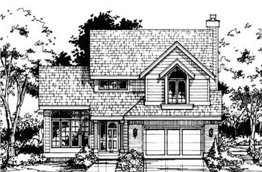 3-Bedroom, 2277 Sq Ft Country Home Plan - 146-1446 - Main Exterior