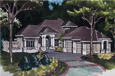 3-Bedroom, 4544 Sq Ft Cape Cod House Plan - 146-1451 - Front Exterior