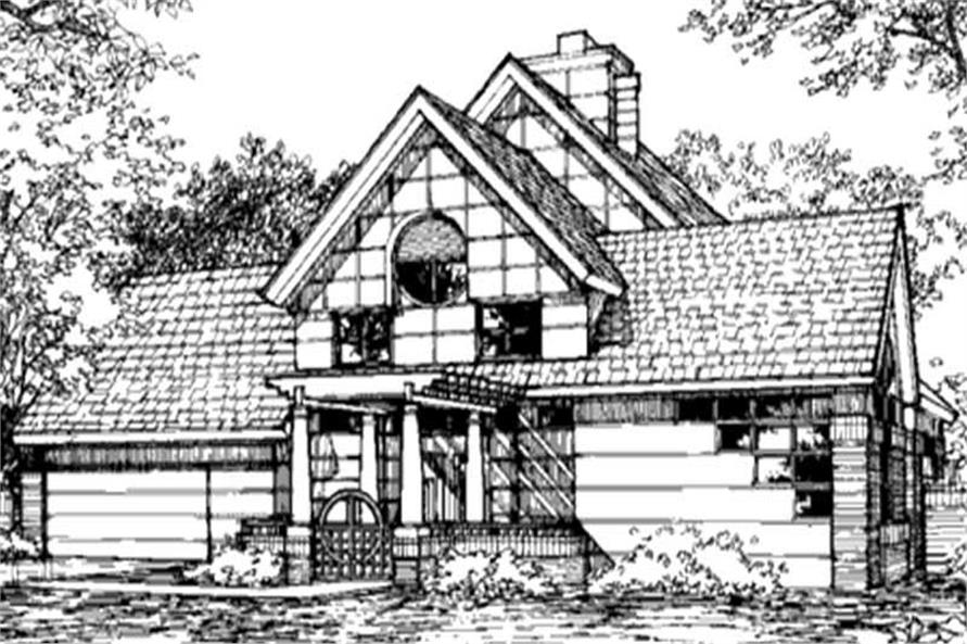Country Home Plans LS-B-91010 front elevation image.