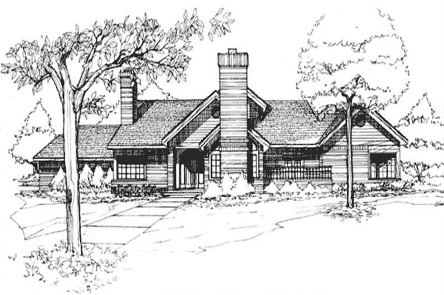 This image shows the Country, Cape Cod Style of this set of House Plans.