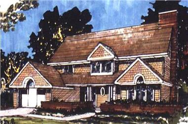 3-Bedroom, 2290 Sq Ft Country House Plan - 146-1455 - Front Exterior