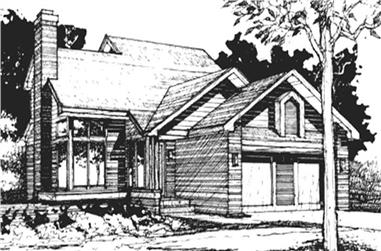 3-Bedroom, 1333 Sq Ft Cape Cod House Plan - 146-1457 - Front Exterior
