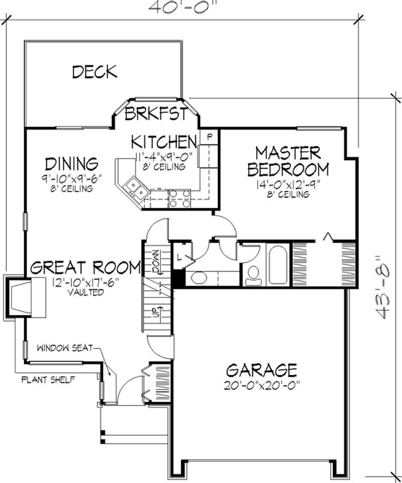 1 1 2 Story Ranch House Plans Home Design Ls B 86141