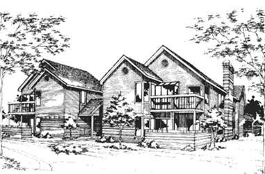 1-Bedroom, 960 Sq Ft Home Plan - 146-1458 - Main Exterior