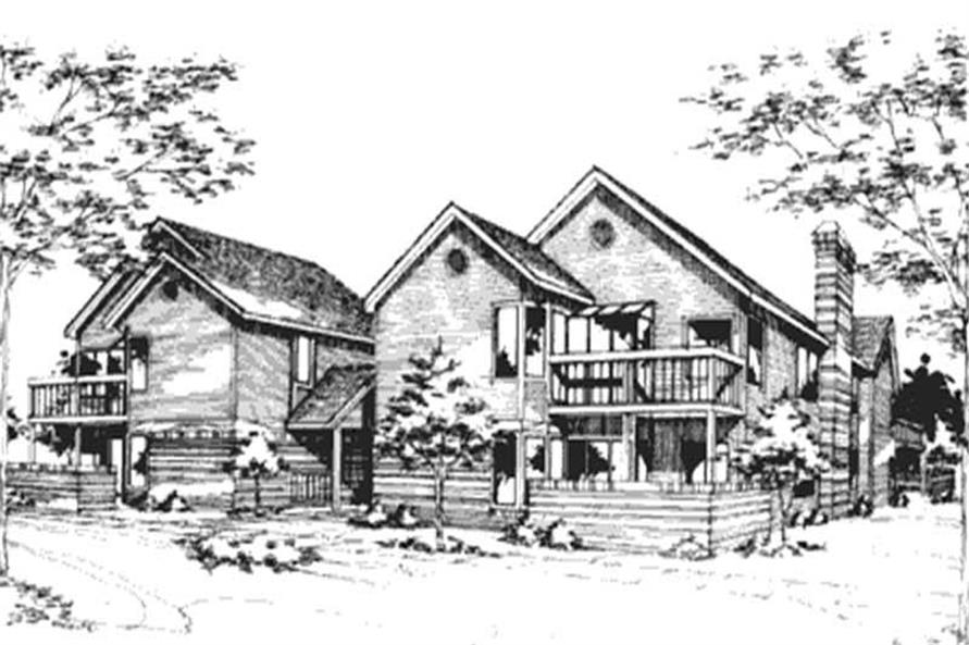 This image shows the Postmodern/Multi-Unit Style of this house plan.